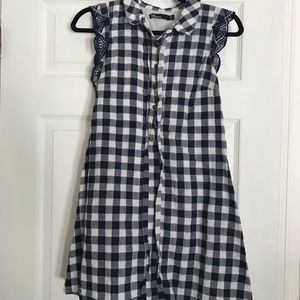 Anthropologie Dear Creatures Blue Gingham DressPXS